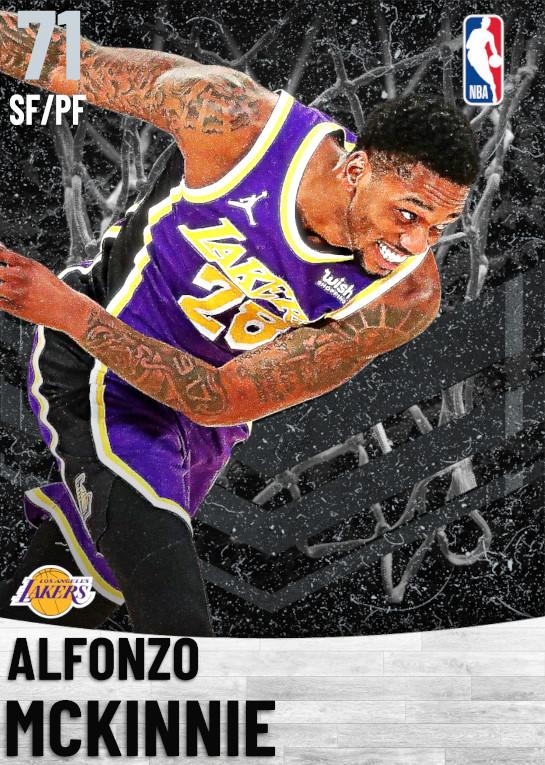 71 Alfonzo McKinnie   Los Angeles Lakers