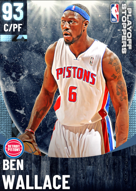 93 Ben Wallace   One Will Rise Playoff Stoppers