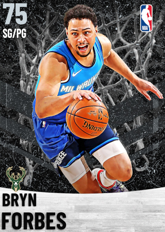 75 Bryn Forbes   Milwaukee Bucks