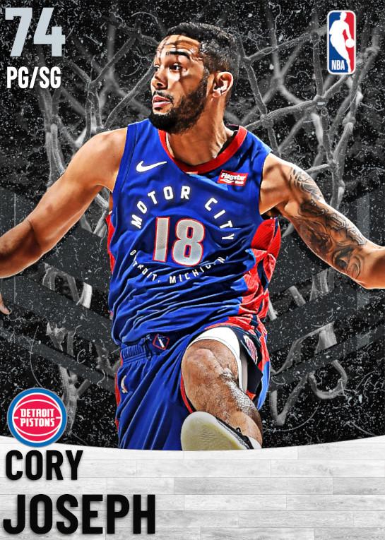 74 Cory Joseph   Detroit Pistons