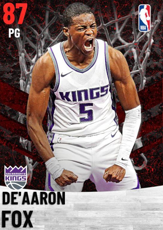 87 De'Aaron Fox   Sacramento Kings