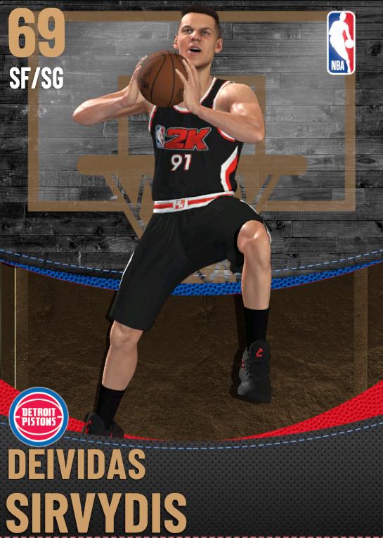 69 Deividas Sirvydis | Detroit Pistons