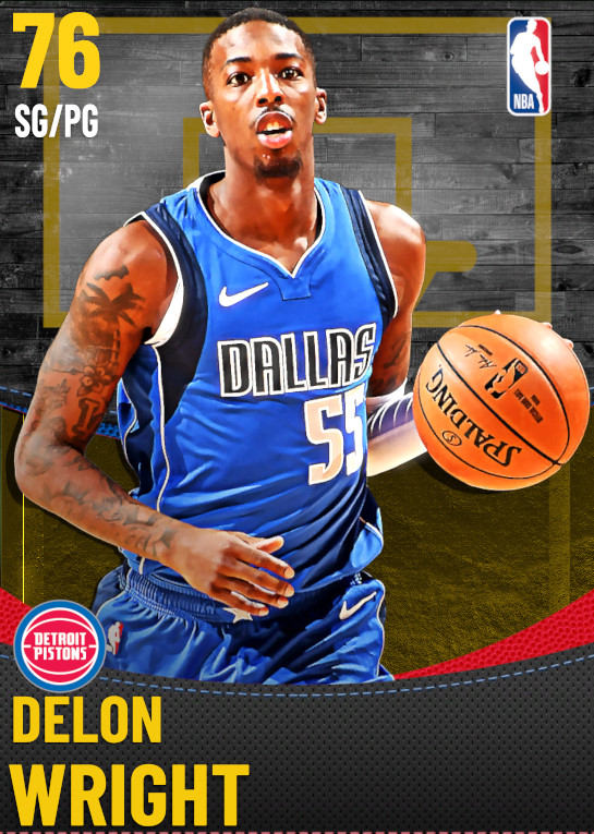 76 Delon Wright | Detroit Pistons