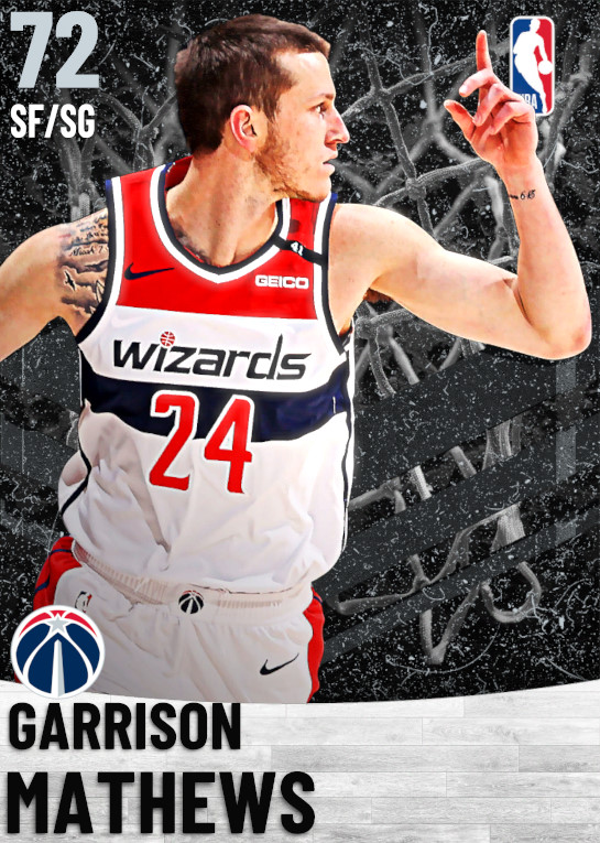 72 Garrison Mathews   Washington Wizards