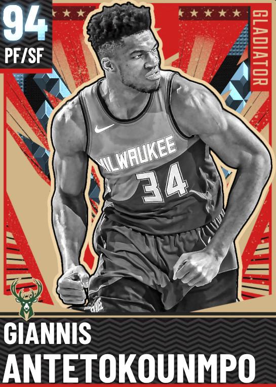 94 Giannis Antetokounmpo   Gladiator