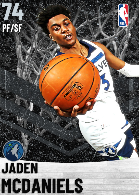 74 Jaden McDaniels   Minnesota Timberwolves