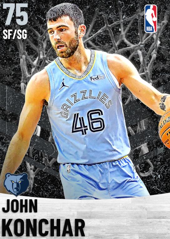 75 John Konchar   Memphis Grizzlies