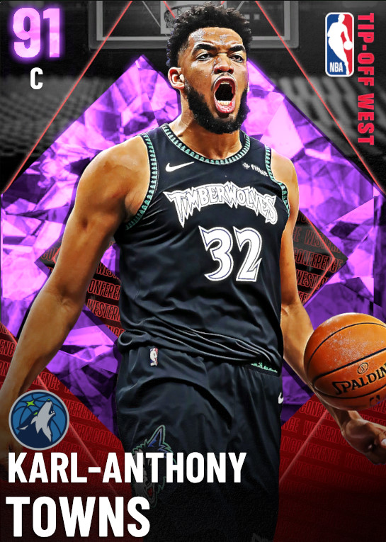 91 Karl-Anthony Towns   Season 2 Tip Off  West
