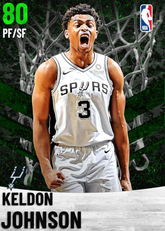 80 Keldon Johnson   San Antonio Spurs