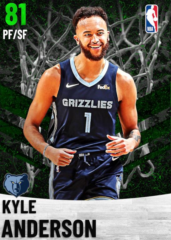 81 Kyle Anderson   Memphis Grizzlies