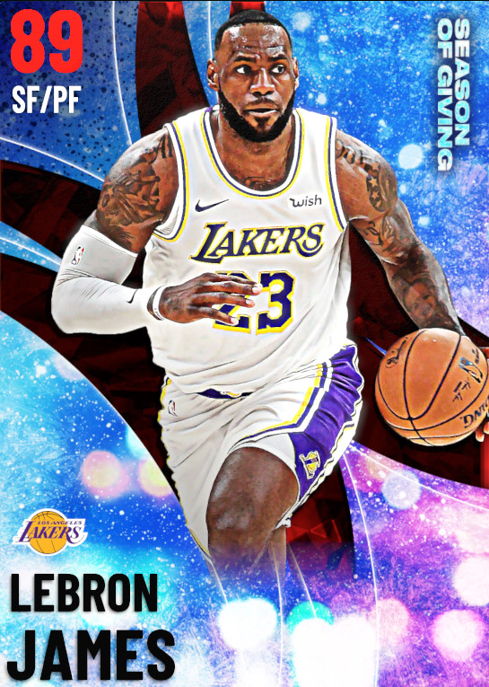 89 LeBron James | undefined