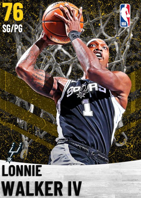 76 Lonnie Walker IV   San Antonio Spurs