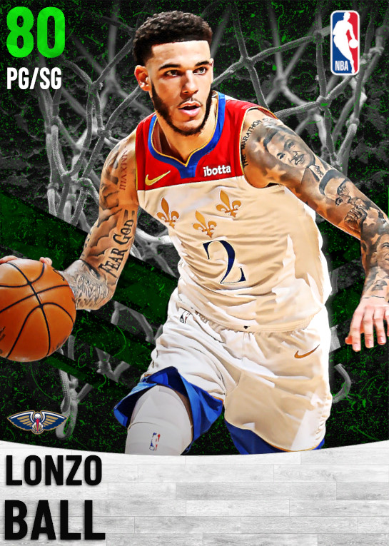 80 Lonzo Ball   New Orleans Pelicans