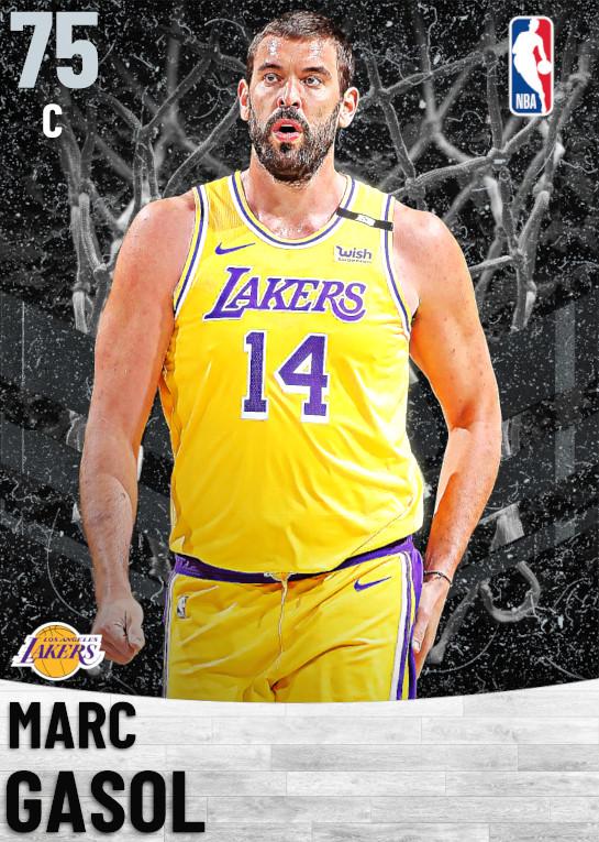 75 Marc Gasol   Los Angeles Lakers
