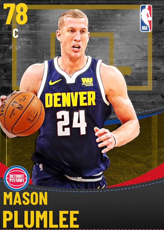 78 Mason Plumlee | Detroit Pistons