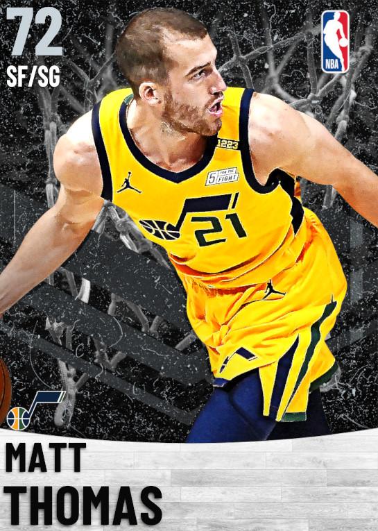72 Matt Thomas   Utah Jazz