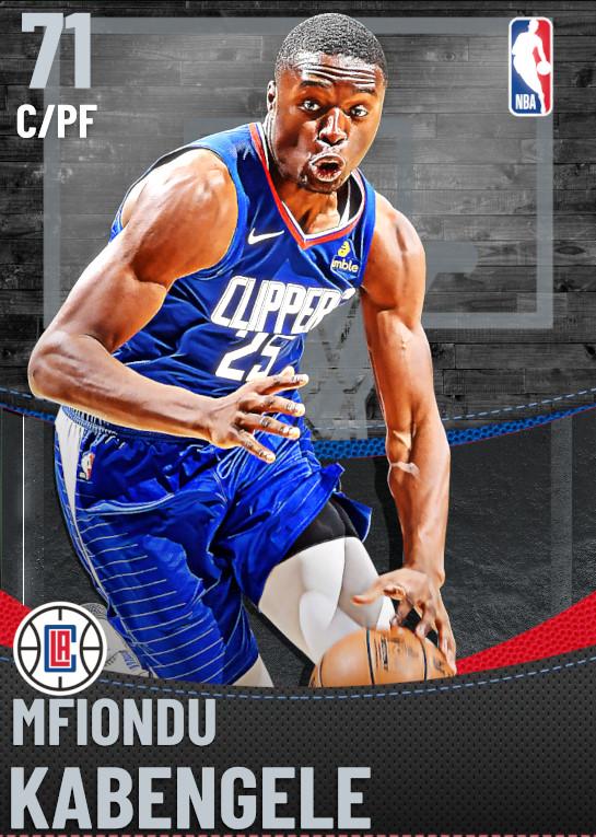71 Mfiondu Kabengele | Los Angeles Clippers