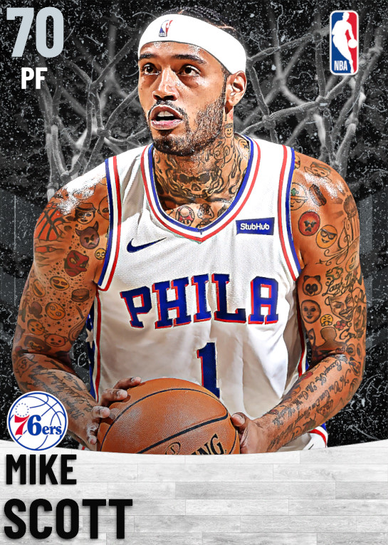 70 Mike Scott   Philadelphia 76ers