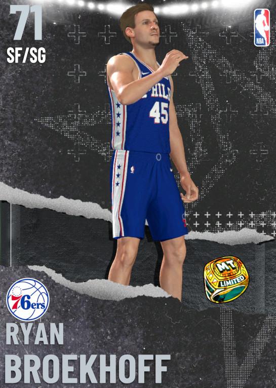 71 Ryan Broekhoff   Philadelphia 76ers