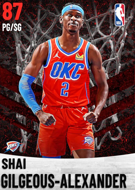 87 Shai Gilgeous-Alexander   Oklahoma City Thunder