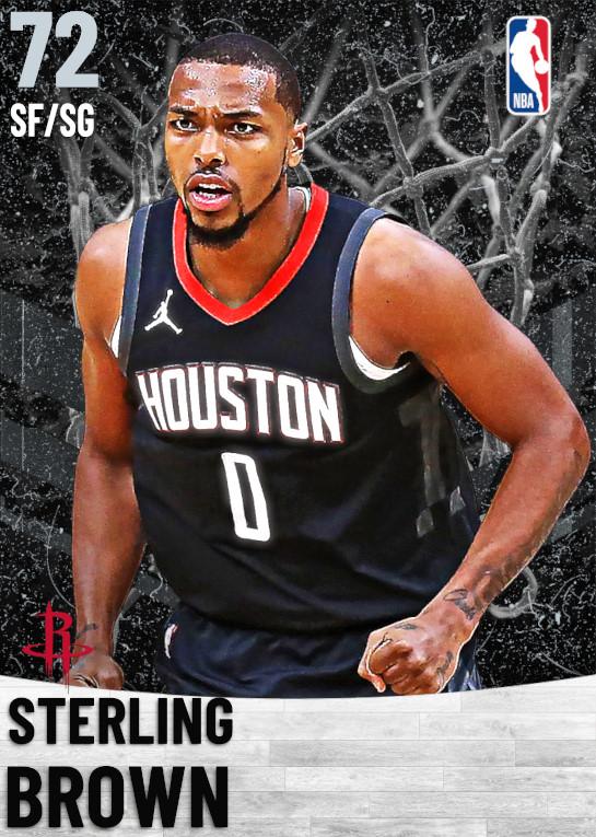 72 Sterling Brown   Houston Rockets