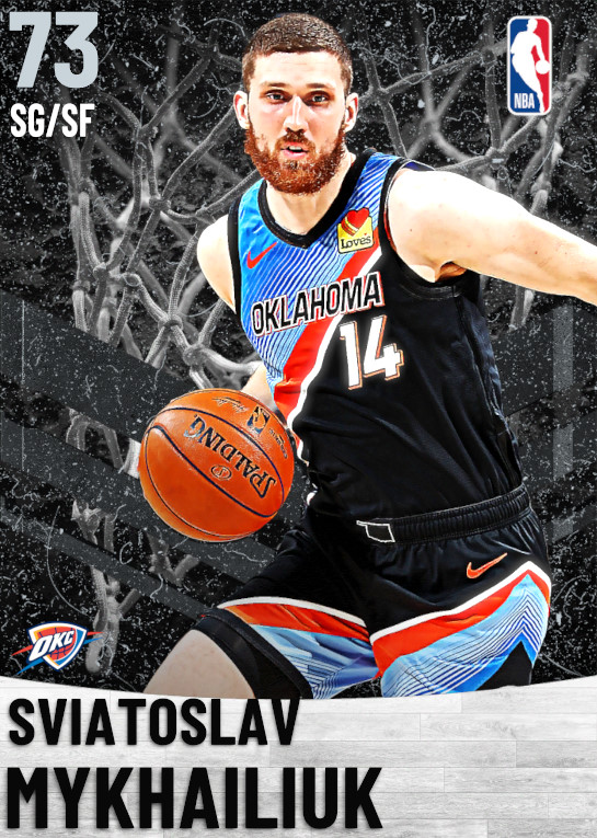 73 Sviatoslav Mykhailiuk   Oklahoma City Thunder