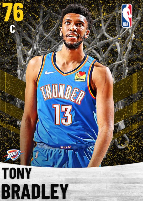 76 Tony Bradley   Oklahoma City Thunder