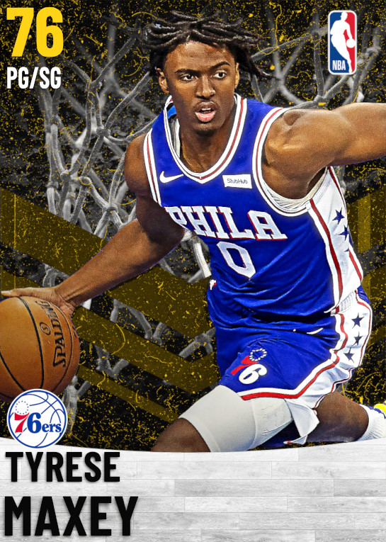 76 Tyrese Maxey   Philadelphia 76ers