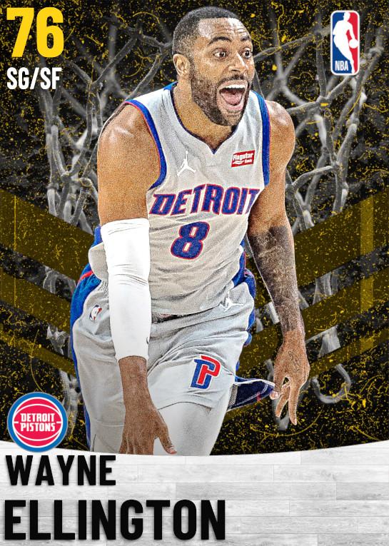 76 Wayne Ellington   Detroit Pistons