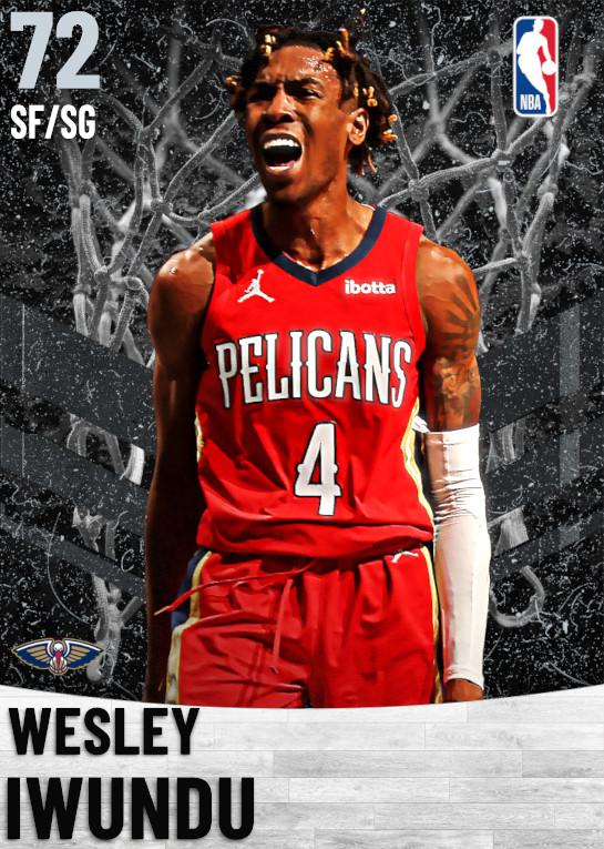 72 Wesley Iwundu   New Orleans Pelicans