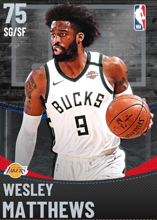 75 Wesley Matthews | Los Angeles Lakers